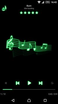 mMusic Skin Neon Green poster