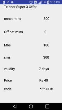 All Telenor Packages Free 2018 screenshot 4