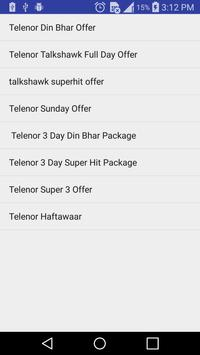 All Telenor Packages Free 2018 screenshot 1