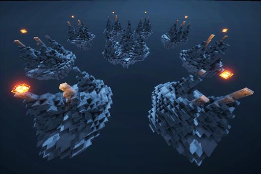 SkyWars Frozen map for MCPE screenshot 2
