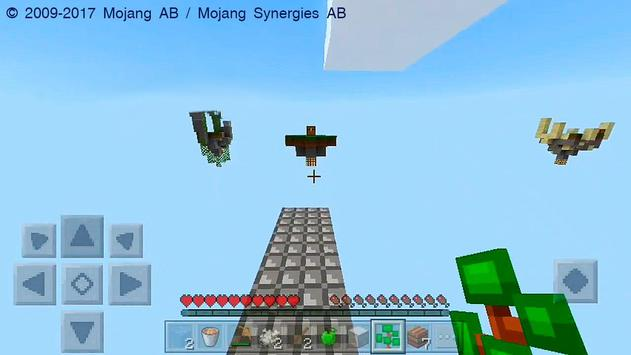 Mega Skyblock Survival Map for MCPE poster