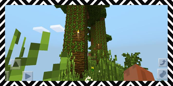 Cloud Challenges. Map for MCPE poster