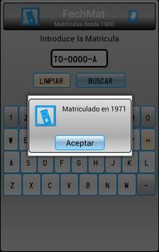 Fecha Matrículas España apk screenshot