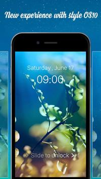 Lock Screen style OS  10 – Phone 8 apk screenshot