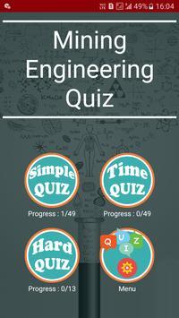 Mining Engineering Quiz poster