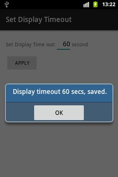 Set Android  Display Timeout screenshot 1