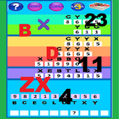 Letters and numbers multiplication/Divison Game icon