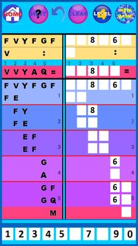 Letters and numbers multiplication/Divison Game screenshot 1