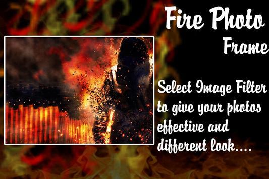 Fire Text Photo Frame apk screenshot