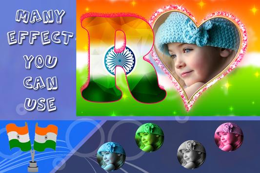 Hindustan Flag Text Photo Frame screenshot 4
