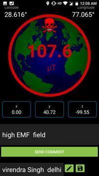 Metal & EMF Detector free with lat-long screenshot 1