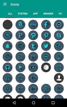 M Theme - Dark Green Icon Pack apk screenshot