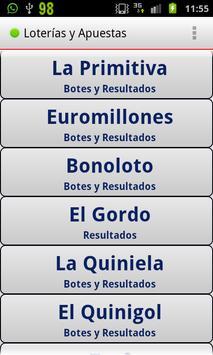 Loterias y Apuestas apk screenshot
