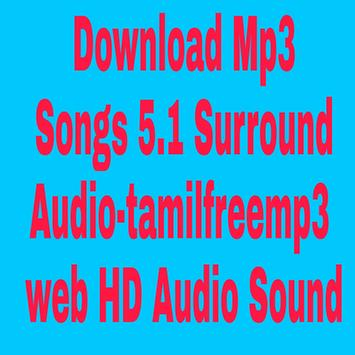 Mp3 Songs Download 5.1 Surround Audio-Tamil screenshot 1
