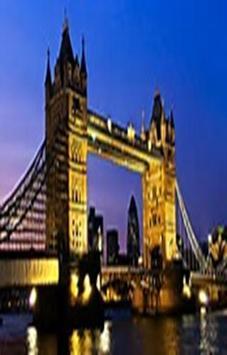 London Selfie Photo Background poster