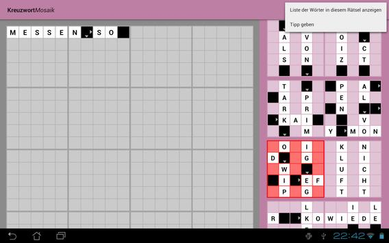 Kreuzworträtsel als KreuzwortMosaik screenshot 2