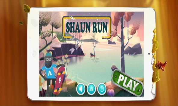 Shaun Run-Super the Sheep poster