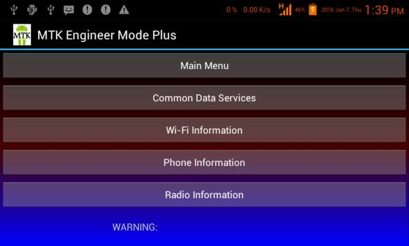 MTK Engineer Mode Plus apk screenshot