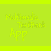 Multimedia test bank icon