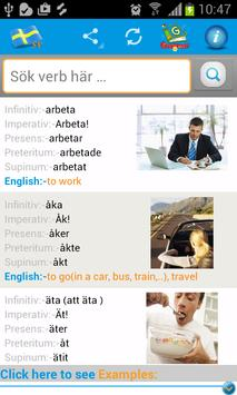 Learn Swedish  Verbs poster