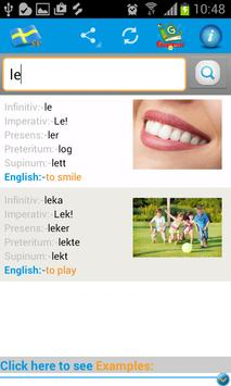 Learn Swedish  Verbs apk screenshot