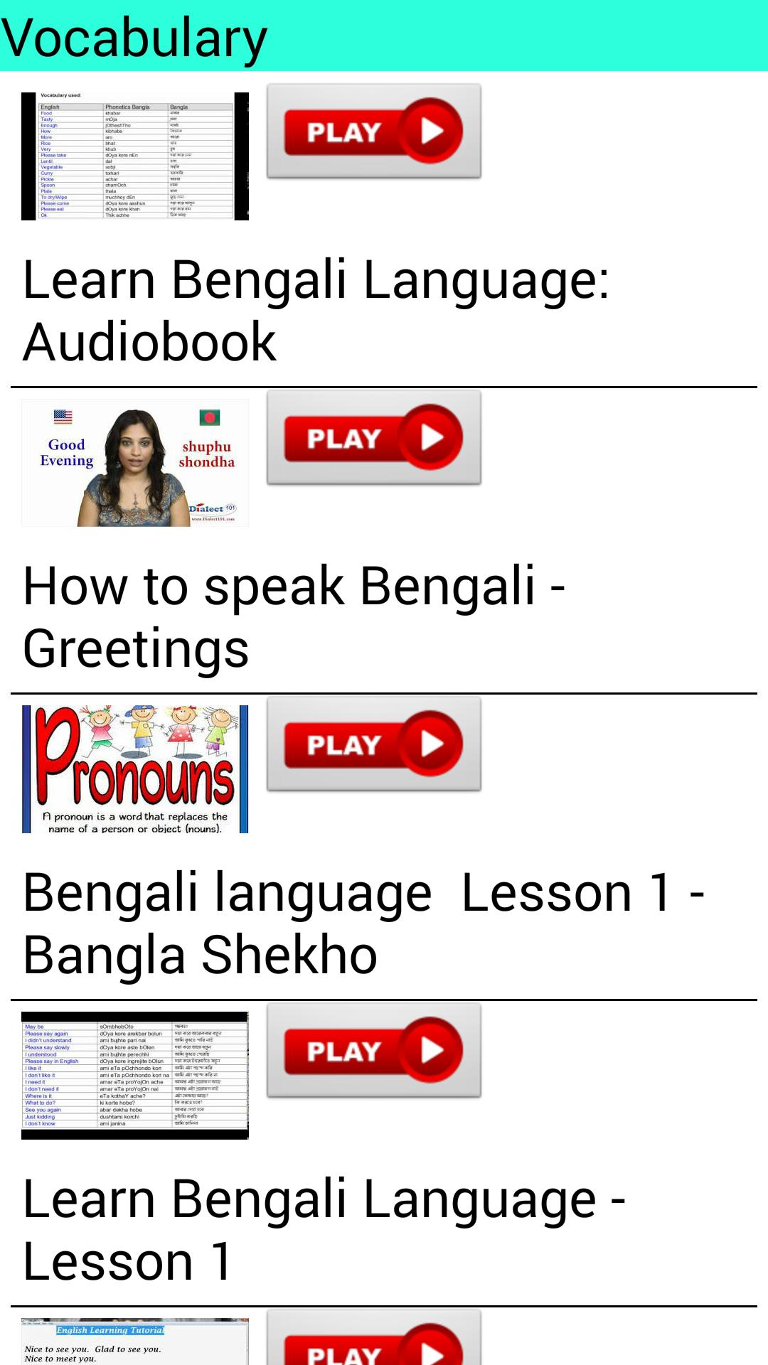 Learn Bengali by Videos for Android - APK Download
