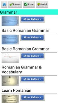 Learn Romanian by Videos apk screenshot