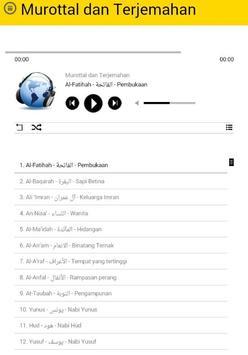 Murottal dan Terjemahan - Arab & Indonesia screenshot 2