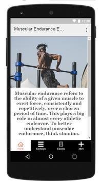 Muscular Endurance Exercises poster