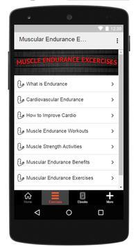 Muscular Endurance Exercises screenshot 1