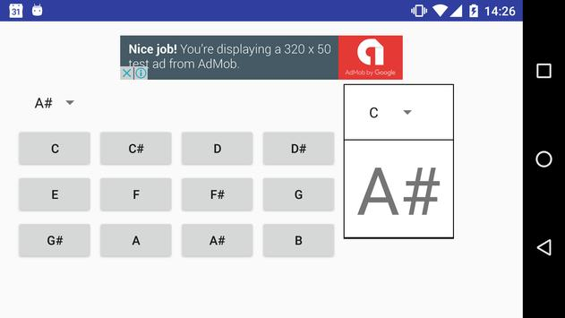 transposition music note apk screenshot