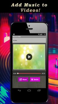 Music to Video.Add mp3 to Video. Background Music screenshot 4