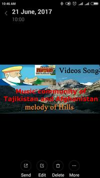 Community video songs of Afghanistan & Tajikistan apk screenshot