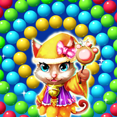 Cat Bouncing Bubble icon