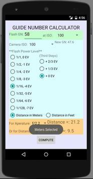 Guide Number Calculator apk screenshot