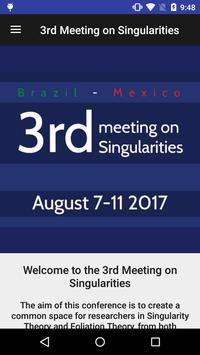 3rd Meeting on Singularities poster