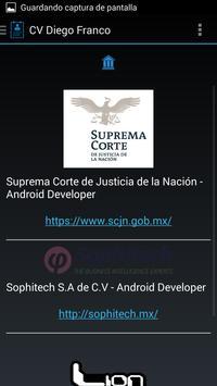 CV Diego Franco apk screenshot