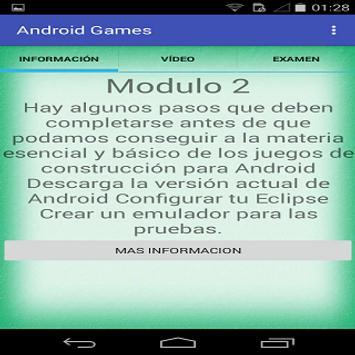 Aprendiendo android juegos apk screenshot