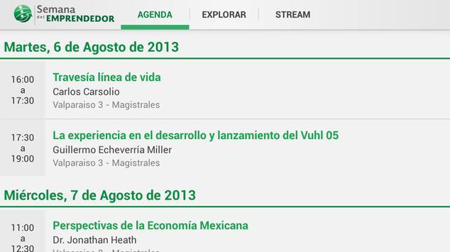 Semana del Emprendedor 2013 apk screenshot