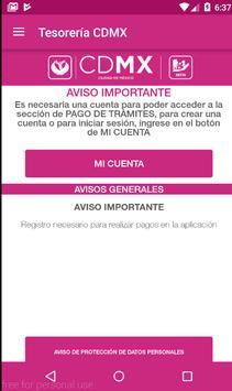 Tesorería CDMX apk screenshot
