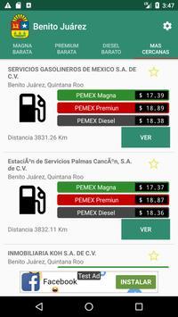 Petroprecios Gasolina Mexico poster