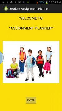 STUDENT ASSIGNMENT PLANNER poster