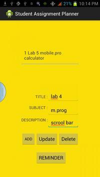 STUDENT ASSIGNMENT PLANNER apk screenshot
