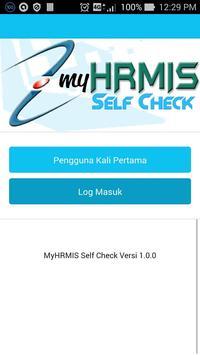 MyHRMIS Self Check poster