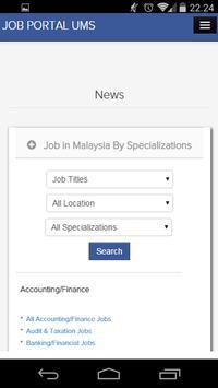 Job Portal UMS apk screenshot