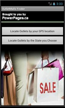 Factory Outlet Mall Finder US poster