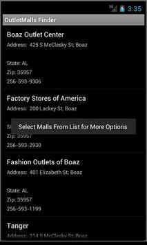 Factory Outlet Mall Finder US apk screenshot
