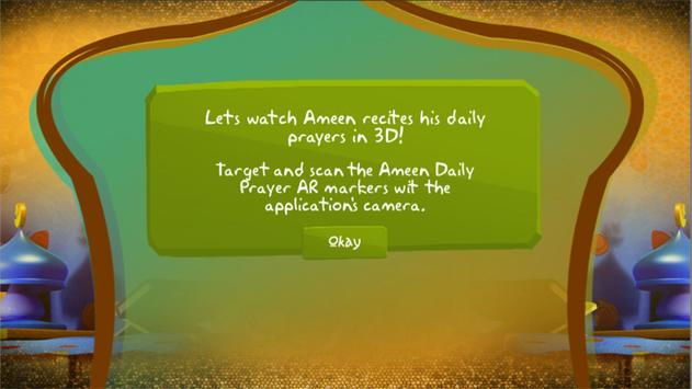 Ameen Daily Prayer AR poster