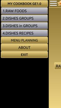 My cookbook apk screenshot