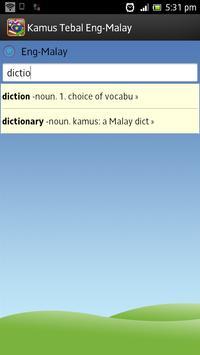 Kamus Tebal English Malay poster